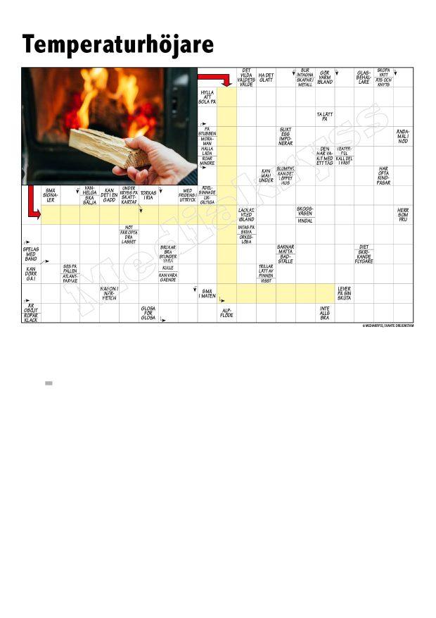 Korsord 343 – Temperaturhojare